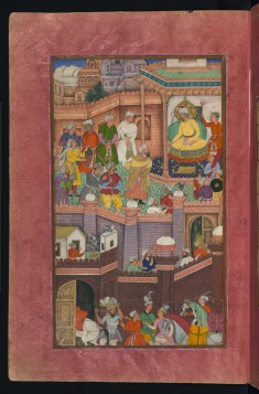 Muhammad Husaym Mirza Being Released by Babur