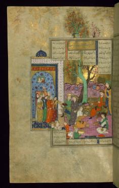 Kay Khusraw, Having Conquered Afrasiyab's Fortress, Sits on his Throne