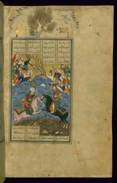 The First Combat of Rustam and Isfandiyar