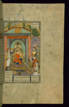 Bahram Gur Enthroned