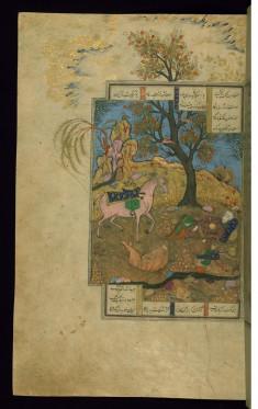 Rakhsh Kills a Lion (the First Feat)