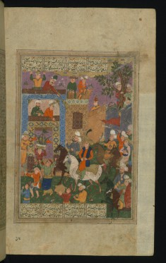 Shah Jahan Returns to his Court in India