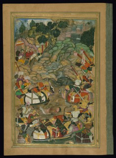 Alexander the Great Lassoes an Opponent from the Khamsa (Quintet) of Amir Khusraw Dihlavi