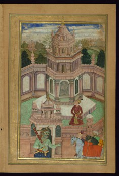 The Story of the Wrongly Exiled Prince as Told by the Princess of the Sandalwood Pavilion from the Khamsa (Quintet) of Amir Khusraw Dihlavi