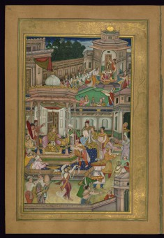 Shirin Receives a Ring from Khusraw