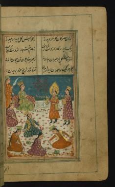 Joseph Brings Zulaykha a Golden Water Jar to Wash Her Hands
