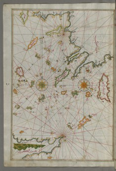 Map of the Islands of the Aegean Sea Including Chios, Cos, Rhodes and Crete