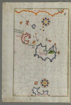 Map of Chalkis Island Off Rhodes Island
