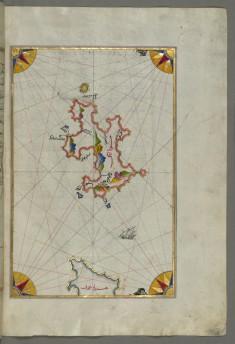Map of Telos Island North of Chalkis Island in the Eastern Aegean Sea