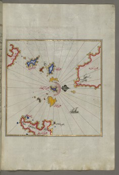 Map of Small Islands in the Region of Naxos and Amorgos in the Southeastern Aegean Sea