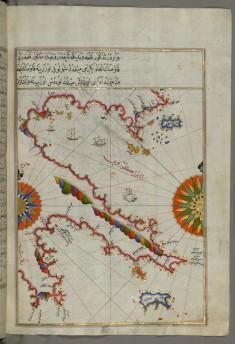 Map of Argolikos Bay and Peloponnese Peninsula