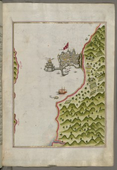 Map of the Methana Fortress in the Saronikos Bay