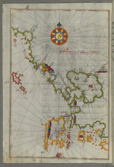 Map of the Western Coast of Greece From the Island of Levcas Going North as Far as Paxi Island