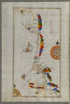 Map of the Adriatic Coast Around Karaburun and Vlora