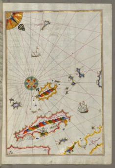 Map of the Dalmatian Islands: Korcula and Lastovo Off the Coast Between Dubrovnik and Split