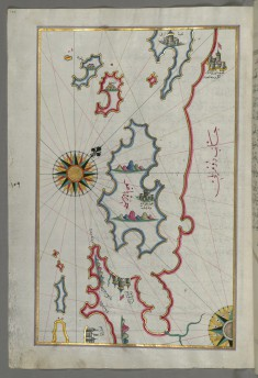 Map of the Islands of Pag and Rab