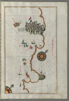 Map of the Coastline From Rovinj as Far as the Fortress of Porec
