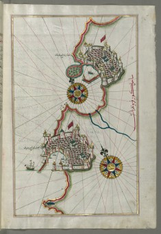 Map of the Coastline from Piran as Far as Izola