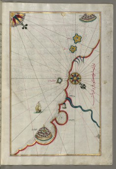 Map of the Coastline From Marano to Caorle, Province of Venice