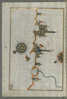 Map of the Italian Coastline From Barletta to Trani
