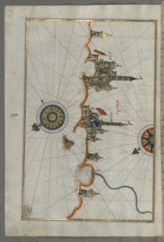 Map of the Italian Coastline From Barletta to Trani