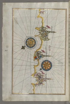 Map of the Italian Coast Around Monopoli, South of Bari