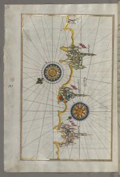 Map of the Italian Coast Around Monopoli, South of Bari