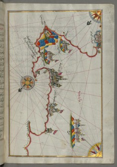 Map of the Italian Coast from Lecce to Gallipoli