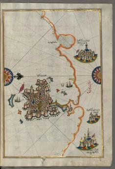 Map of  the Towns of Gallipoli and Nardo on the Italian Coast