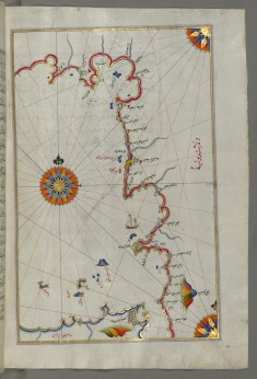 Map of the Straits of Messina and the Western Italian Coast