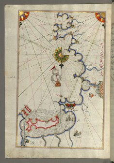 Map of the Coast Around Narbonne