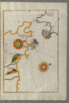 Map of Southern Spain and Morocco with the Cities of Gibraltar, Ceuta and Tetouan