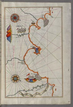 Map of the Algerian Coast Around Oran and Mostaganem