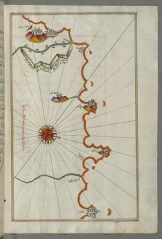 Map of the Algerian Coast Around Mostaganem