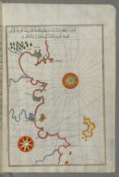 Map of the Algerian and Tunisian Coast From Annaba to Tabarka