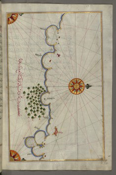 Map of the Egyptian Coast From Salum East