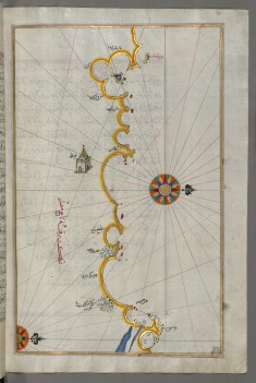 Map of the Egyptian Coast From Matruh East Towards Alexandria