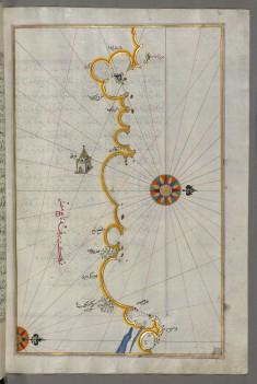 Map of the Egyptian Coast From Matruh East Towards Alexandria