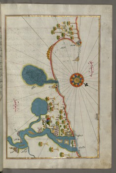 Map of the Egyptian Coast From Alexandria as Far as the City of Rashid