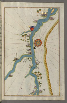 Map of Towns and Oases Along the River Nile Beginning with Bulaq