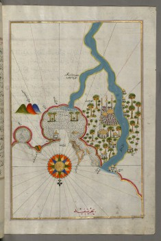 Map of the City of Damietta on the Egyptian Coast