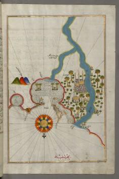 Map of the City of Damietta on the Egyptian Coast