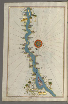 Map of Oases and Villages Along the River Nile as Far as Sidi Musá