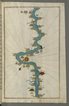 Map of the Oases and Villages Along the River Nile as Far as Sidi Musá