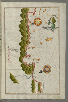 Map of Unidentified Islands Off the Southern Anatolian Coast