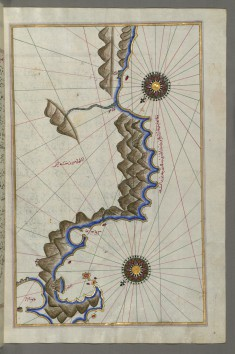 Map of Unidentified Islands Off the Southern Anatolian Coast