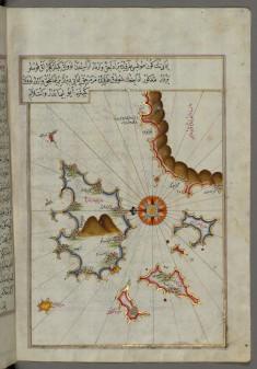 Map of the Island of Marmara in the Sea of Marmara