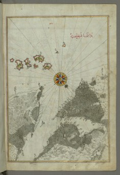 Map of the City of Istanbul, from Book on Navigation by Piri Reis