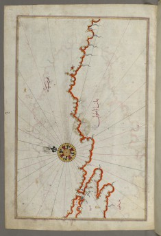 Map of the Coast of the Black Sea from Istanbul to Geresun
