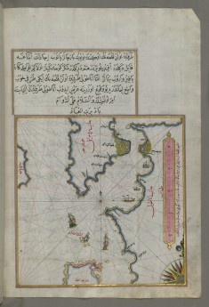Map of the Upper Aegean Sea with the Islands of Imbros and Bozca
